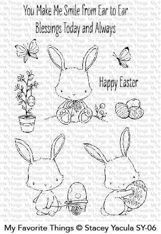 My Favorite Things EASTER BUNNIES Clear Stamps SY06 zoom image