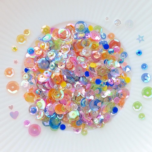 Little Things From Lucy's Cards IRIDESCENT FUN Sparkly Shaker Mix LB226 Preview Image