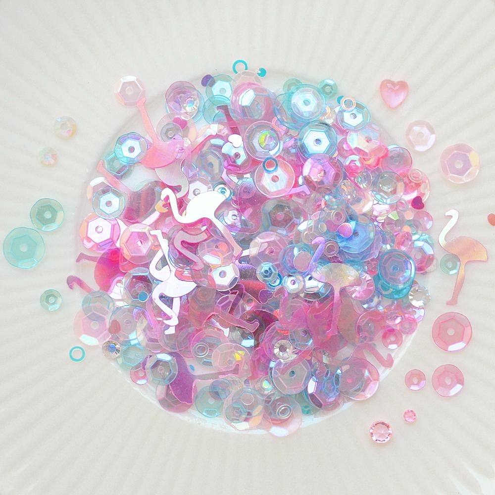Little Things From Lucy's Cards PRETTY IN PINK Sparkly Shaker Mix LB231 zoom image