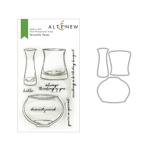 Altenew VERSATILE VASES Clear Stamp and Die Bundle ALT3161 Preview Image