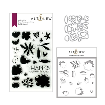 Altenew BOLD BUNCH Clear Stamp, Die and Stencil Bundle ALT3142