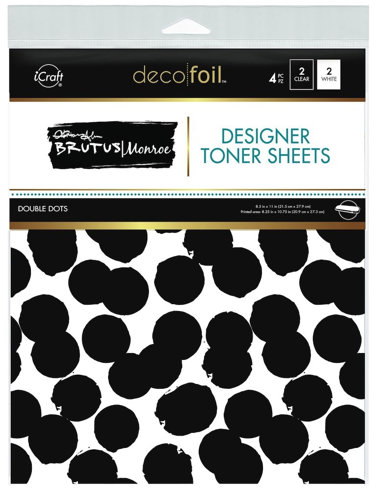 Therm O Web Brutus Monroe DOUBLE DOTS Deco Foil Toner Sheets 19026 zoom image
