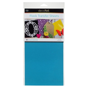Therm O Web BLUE DIAMOND Flock Transfer Sheets Deco Foil 5537