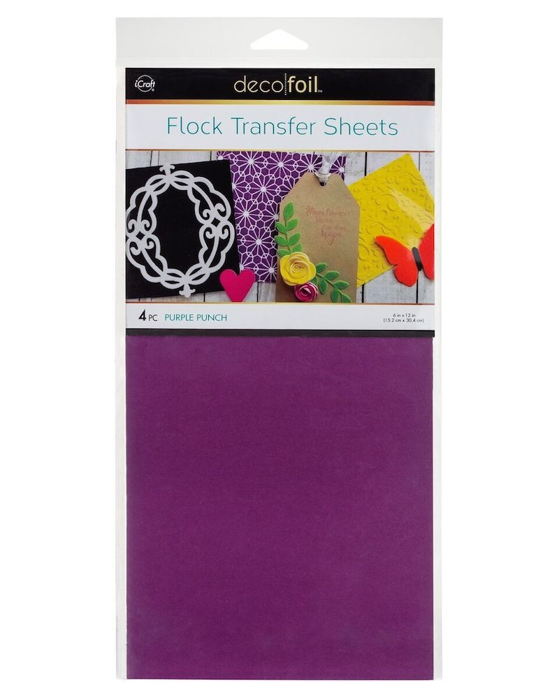 Therm O Web PURPLE PUNCH Flock Transfer Sheets Deco Foil 5538 zoom image