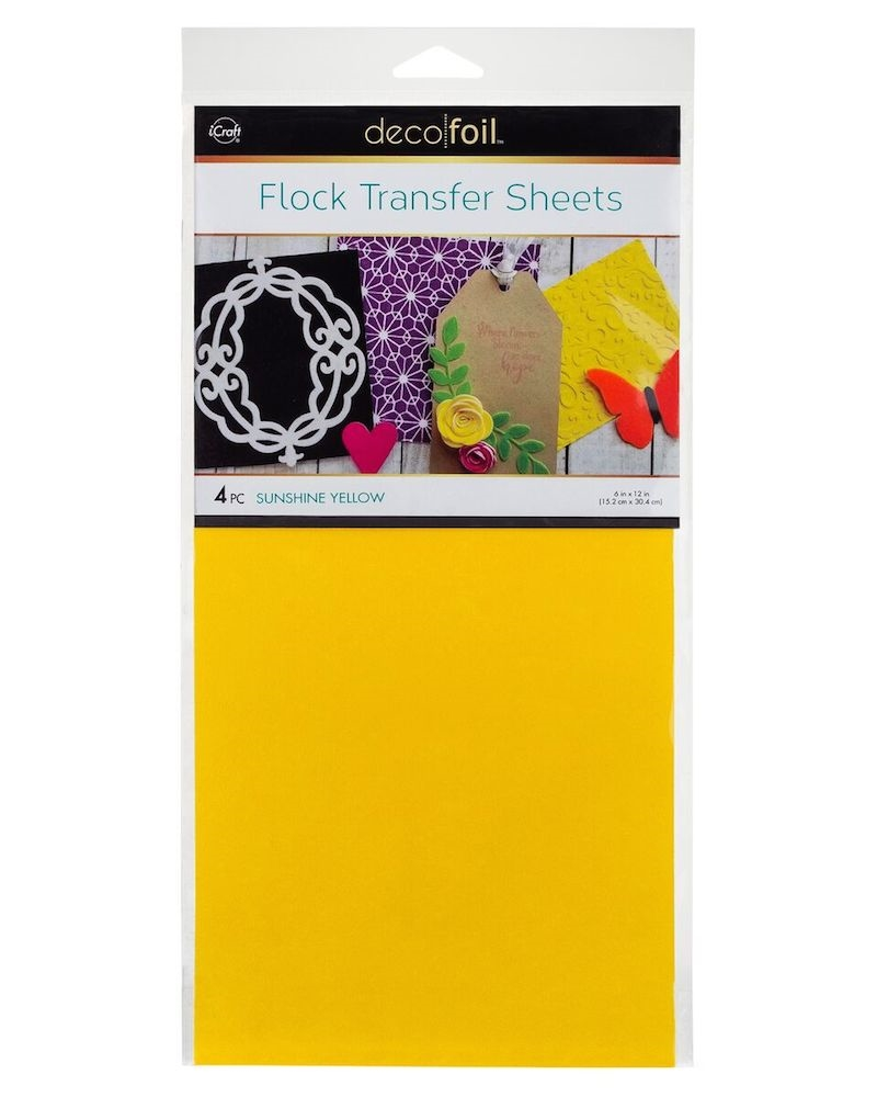 Therm O Web SUNSHINE YELLOW Flock Transfer Sheets Deco Foil 5535 zoom image