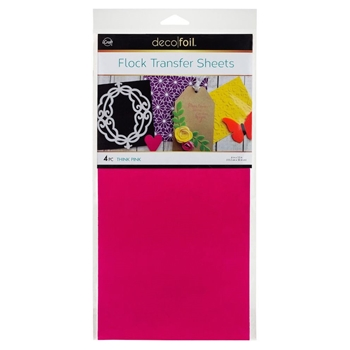Therm O Web THINK PINK Flock Transfer Sheets Deco Foil 5533