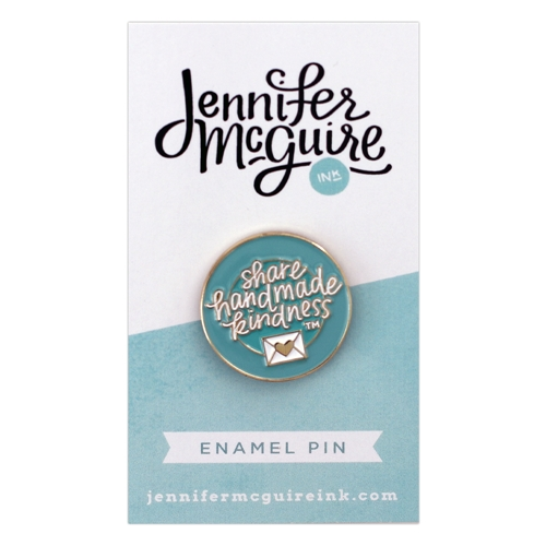 Jennifer McGuire Share Handmade Kindness Enamel Pin Preview Image