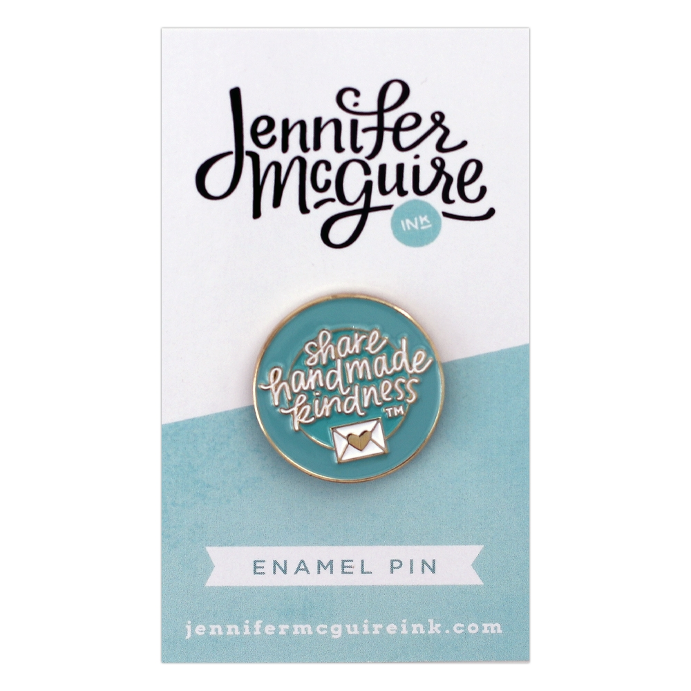 Jennifer McGuire Share Handmade Kindness Enamel Pin zoom image