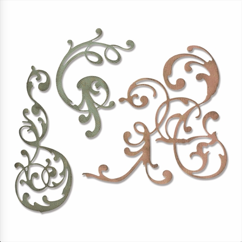 Tim Holtz Sizzix ADORNED Thinlits Dies 664176 Preview Image