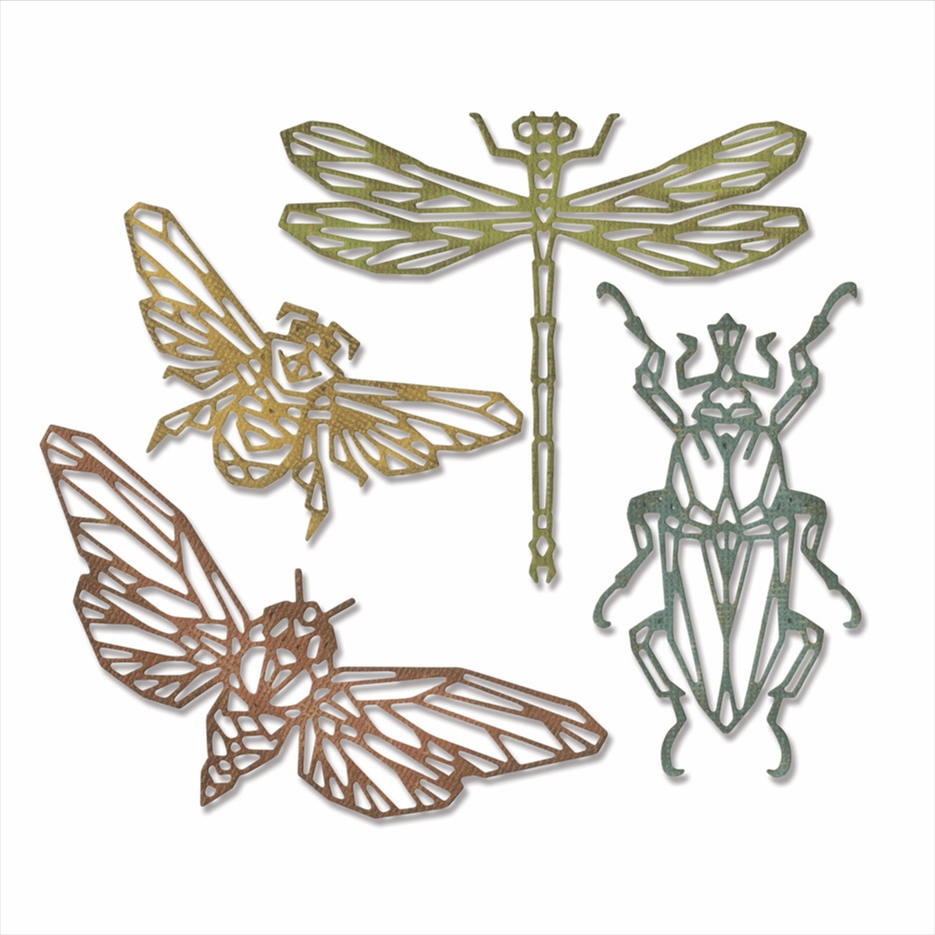 Tim Holtz Sizzix GEO INSECTS Thinlits Dies 664180 zoom image