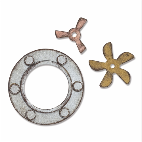 Tim Holtz Sizzix STEAMPUNK PARTS Bigz Die 664185 Preview Image