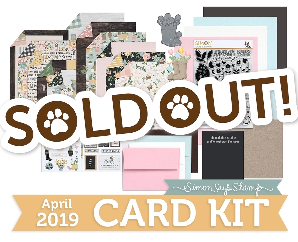 Simon Says Stamp Card Kit of The Month APRIL 2019 HELLO DARLING ck0319 zoom image