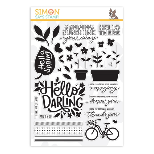 Simon's Exclusive Hello Darling Clear Stamp Set