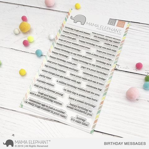 Mama Elephant Clear Stamps BIRTHDAY MESSAGES  zoom image