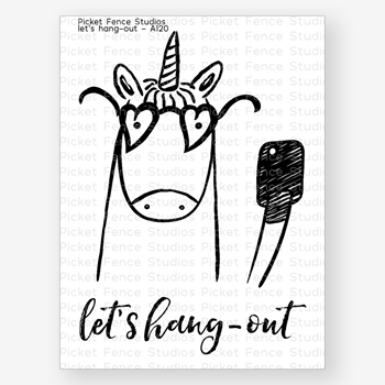 Picket Fence Studios LETS HANG OUT Clear Stamp Set a120