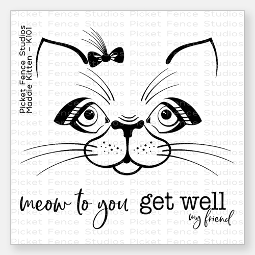 Picket Fence Studios MADDIE KITTEN Clear Stamp Set k101 Preview Image
