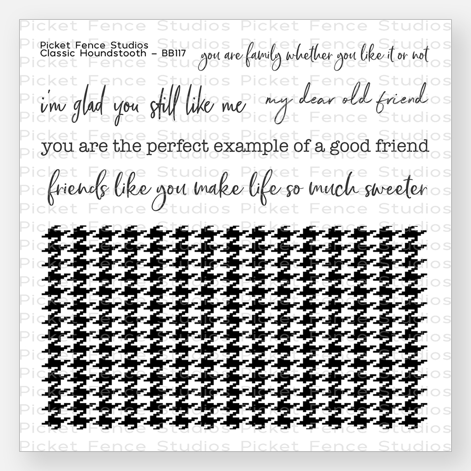Picket Fence Studios CLASSIC HOUNDSTOOTH Clear Stamp Set bb117 zoom image