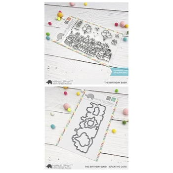 Mama Elephant Clear Stamp and Die MEPT604 The Birthday Bash SET