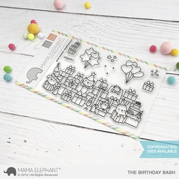 Mama Elephant Clear Stamps THE BIRTHDAY BASH*