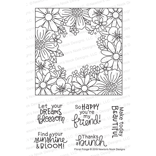 Newton's Nook Designs FLORAL FRINGE Clear Stamps NN1903S04 Preview Image