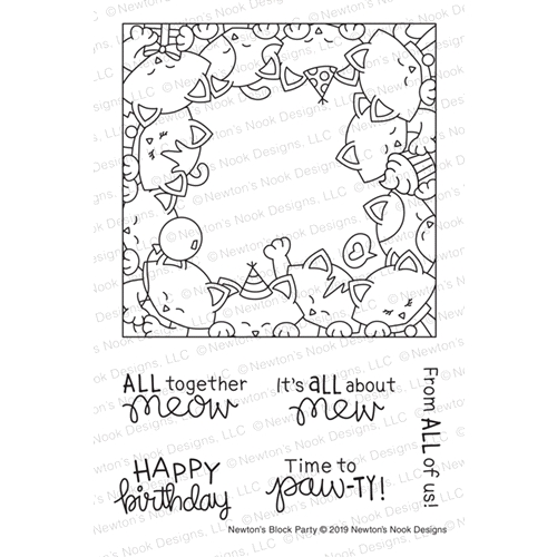 Newton's Nook Designs NEWTON'S BLOCK PARTY Clear Stamps NN1903S05 Preview Image