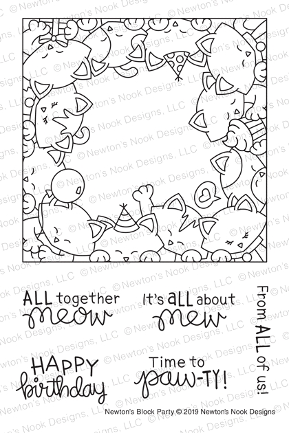 Newton's Nook Designs NEWTON'S BLOCK PARTY Clear Stamps NN1903S05* zoom image