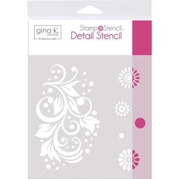 Therm O Web Gina K Designs CRAZY DAISY Detail Stencil 18126