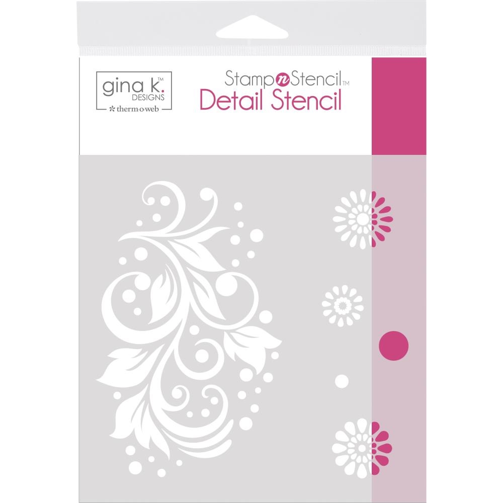 Therm O Web Gina K Designs CRAZY DAISY Detail Stencil 18126 zoom image