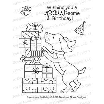 Newton's Nook Designs PAW-SOME BIRTHDAY Clear Stamps NN1903S02