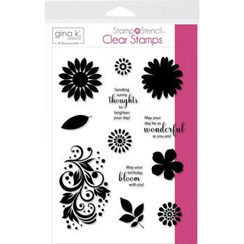 Therm O Web Gina K Designs CRAZY DAISY Clear Stamps 18128