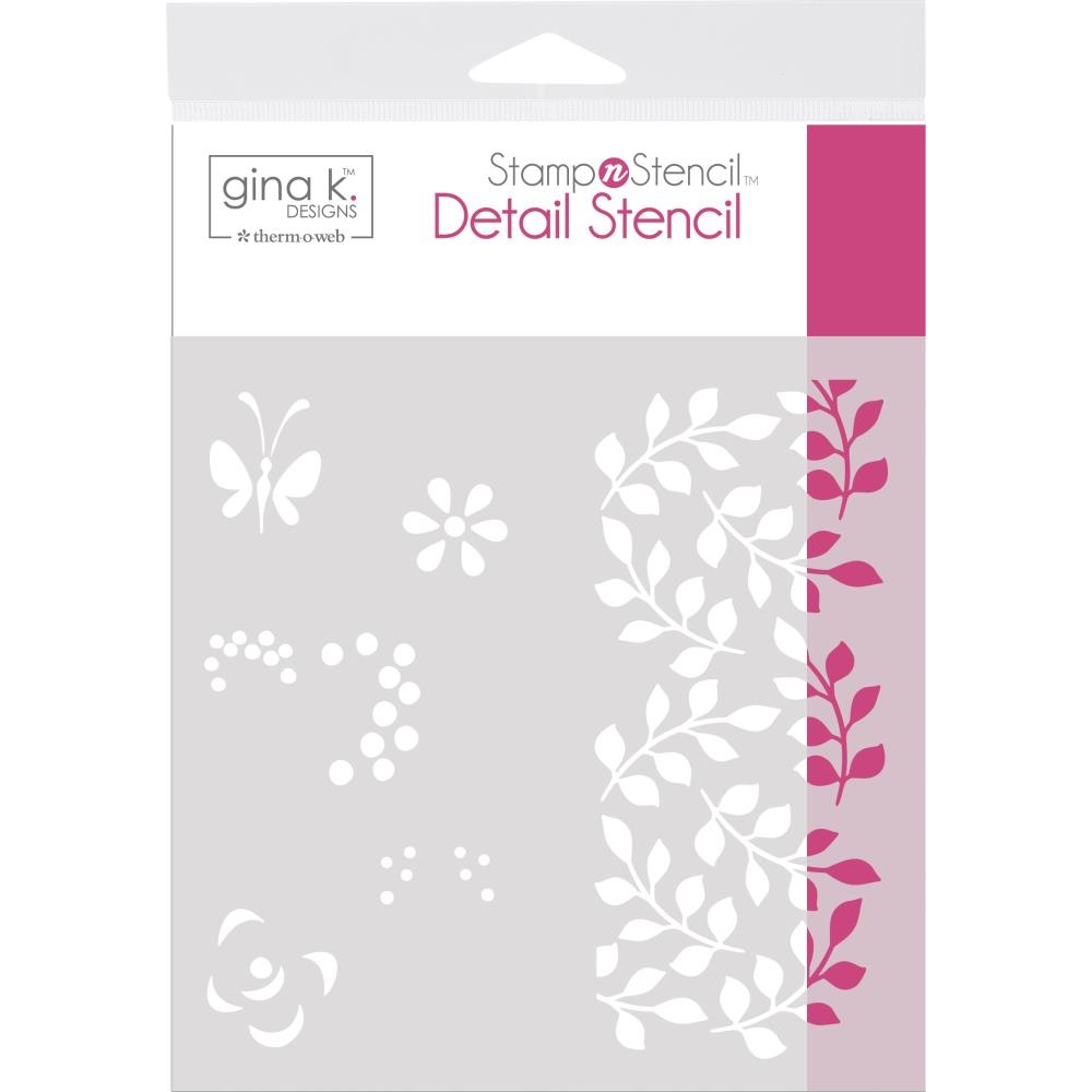 Therm O Web Gina K Designs PETALS AND WINGS Detail Stencil 18125 zoom image
