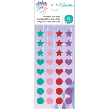 American Crafts Shimelle ENAMEL STICKERS Sparkle City 351334