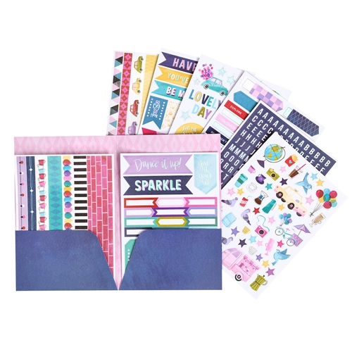 American Crafts Shimelle STICKER AND WASHI BOOK FOLDER Sparkle City 351332 Preview Image