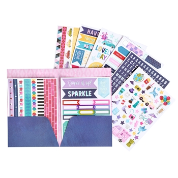American Crafts Shimelle STICKER AND WASHI BOOK FOLDER Sparkle City 351332