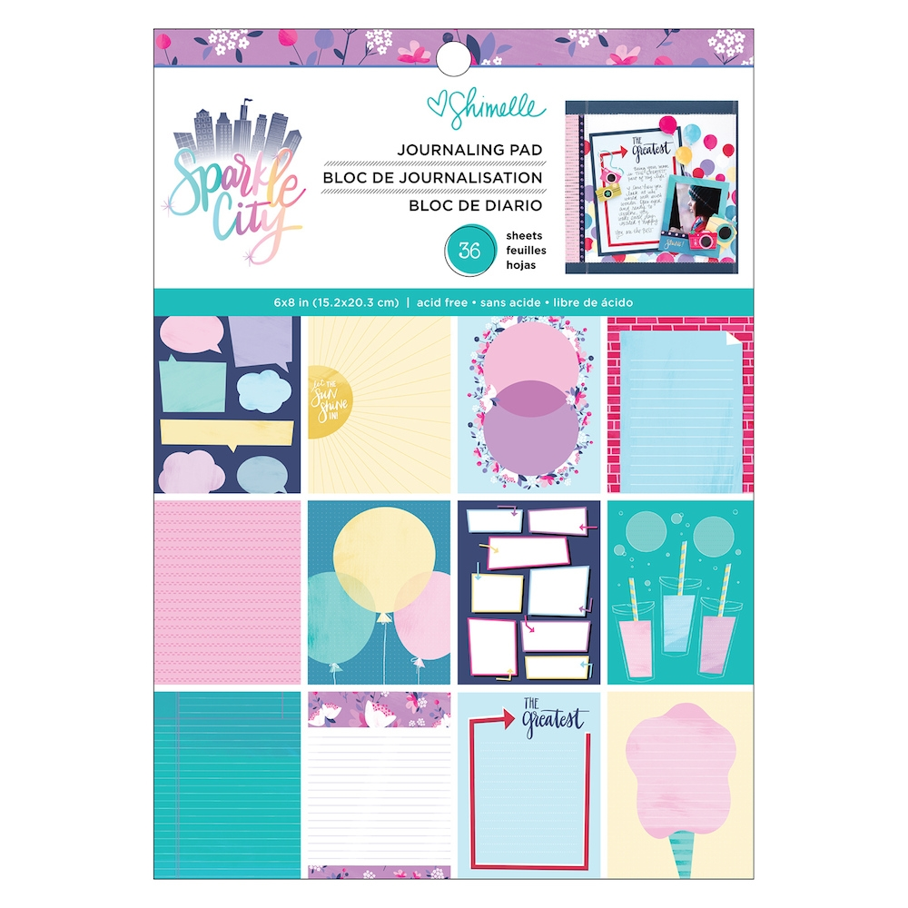 American Crafts Shimelle JOURNAL PAD Sparkle City 351327 zoom image