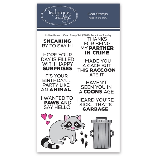 Technique Tuesday ROBBIE RACCOON Clear Stamps 2769 Preview Image
