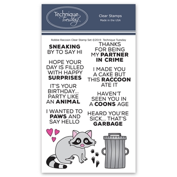 Technique Tuesday ROBBIE RACCOON Clear Stamps 2769
