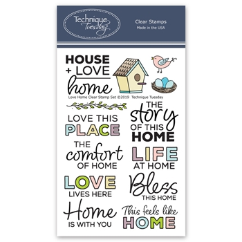 Technique Tuesday LOVE HOME Clear Stamps 2766*
