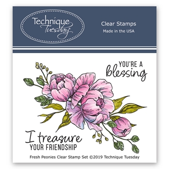 Technique Tuesday FRESH PEONIES Clear Stamps 2763