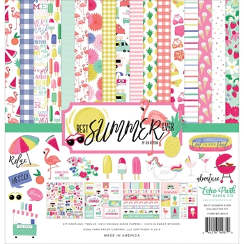 Echo Park BEST SUMMER EVER 12 x 12 Collection Kit bs182016