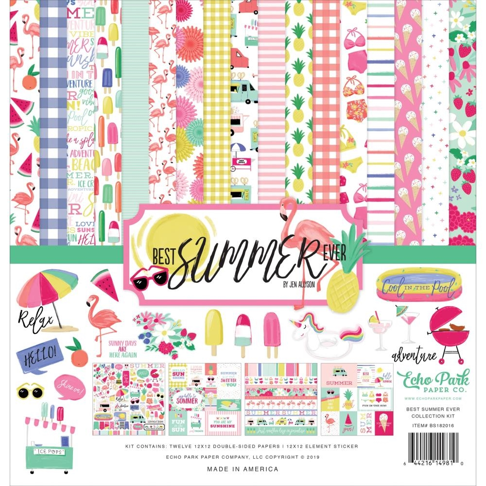 Echo Park BEST SUMMER EVER 12 x 12 Collection Kit bs182016 zoom image