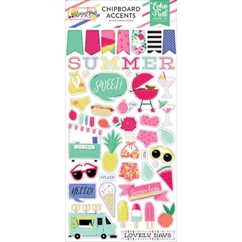 Echo Park BEST SUMMER EVER Chipboard Accents bs182021*
