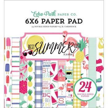 Echo Park BEST SUMMER EVER 6 x 6 Paper Pad bs182023