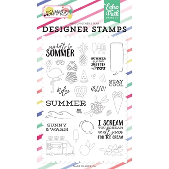 Echo Park SAY HELLO TO SUMMER Clear Stamps bs182045