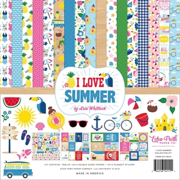 Echo Park I LOVE SUMMER 12 x 12 Collection Kit su178016