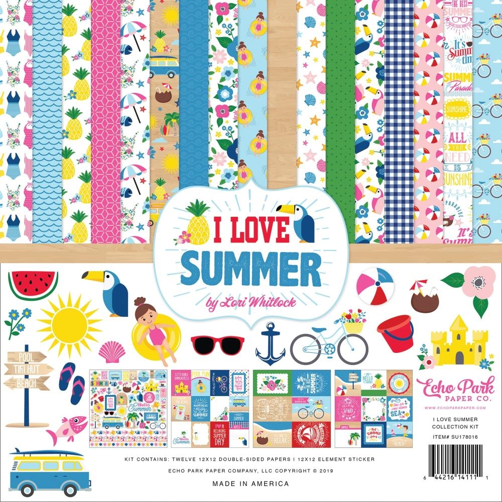 Echo Park I LOVE SUMMER 12 x 12 Collection Kit su178016 zoom image