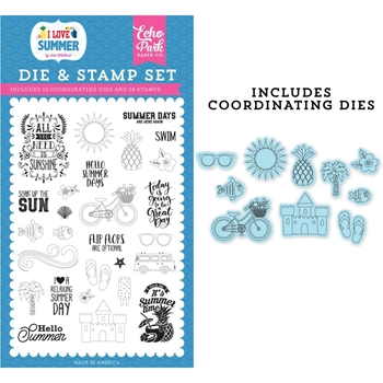 Echo Park IT'S SUMMER TIME Die And Stamp Set su178042*