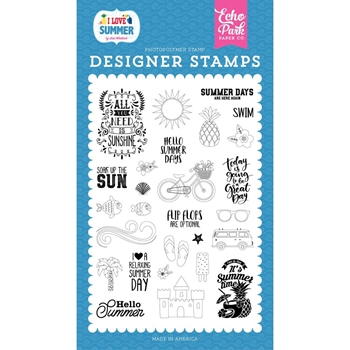 Echo Park IT'S SUMMER TIME Clear Stamps su178043