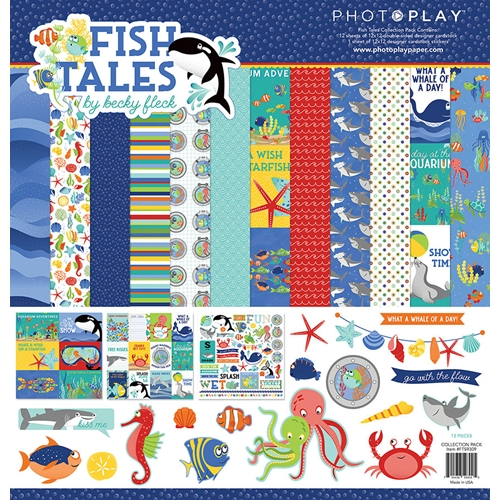 PhotoPlay FISH TALES 12 x 12 Collection Pack fts9309 Preview Image