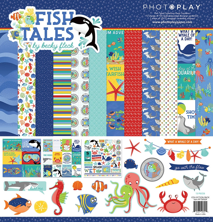 PhotoPlay FISH TALES 12 x 12 Collection Pack fts9309 zoom image